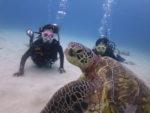 海亀と記念写真